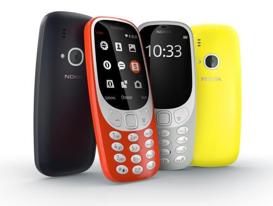Das Nokia 3310 wird es in rot-orange, gelb, matt-blau und matt-grau geben.