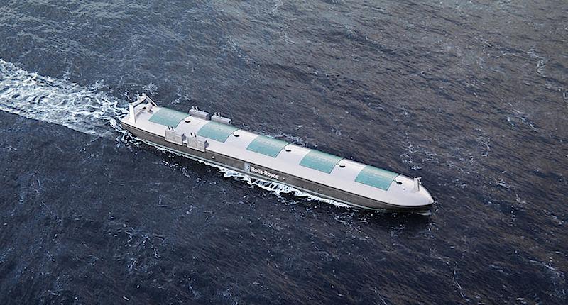 Auch das autonome Containerschiff von Rolls-Royce soll 2020 in See stechen.