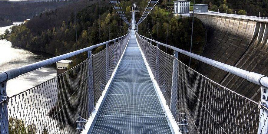 Längste Hängeseilbrücke Deutschlands im Harz