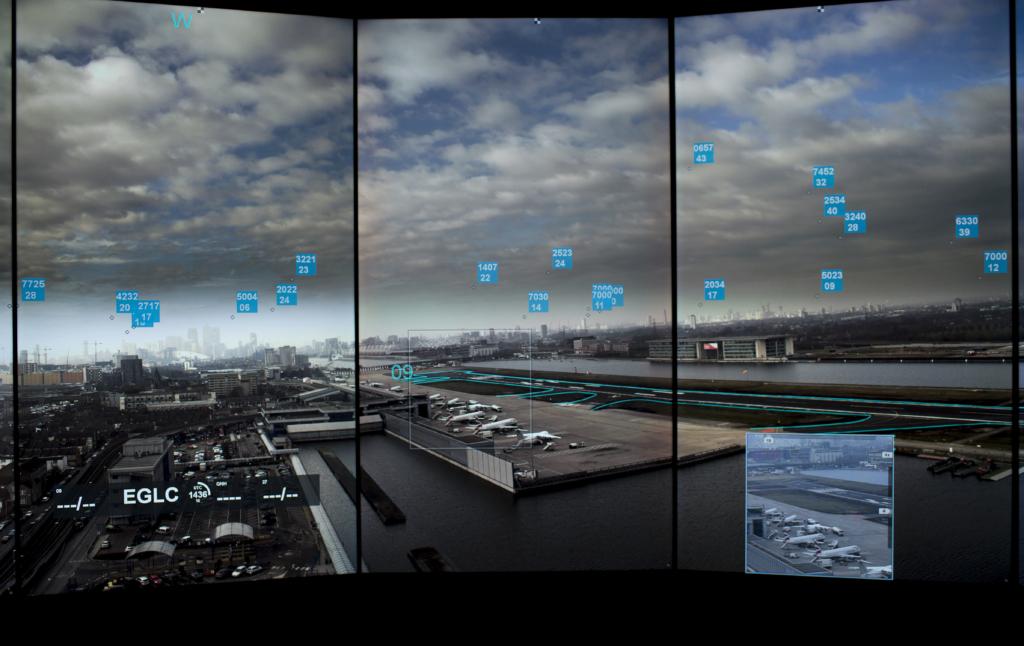 Die Bilder können um Daten wie die vom Radar erweitert werden, um die Flugsicherheit zu erhöhen.