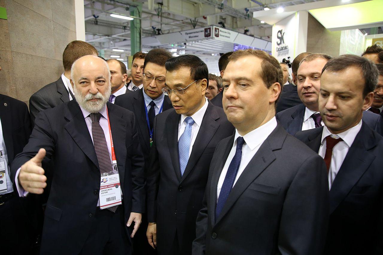 Der russische Milliardär Viktor Vekselberg (li.) 2014 als