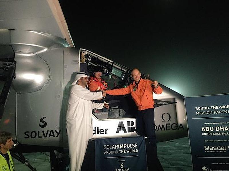 Mal wieder gelandet: Die Solar Impulse legte bei ihrer Weltumrundung 17 Zwischenstopps ein.