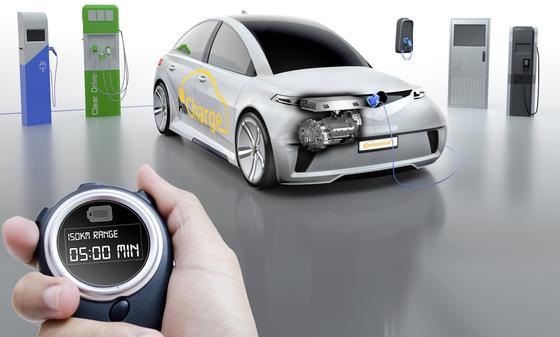 Continental macht den Antriebsstrang zum Ladegerät: Damit sind Elektroautos auf alle Ladetechniken vorbereitet –vom ein- oder dreiphasigen AC-Laden bis hin zum schnellen DC-Laden.