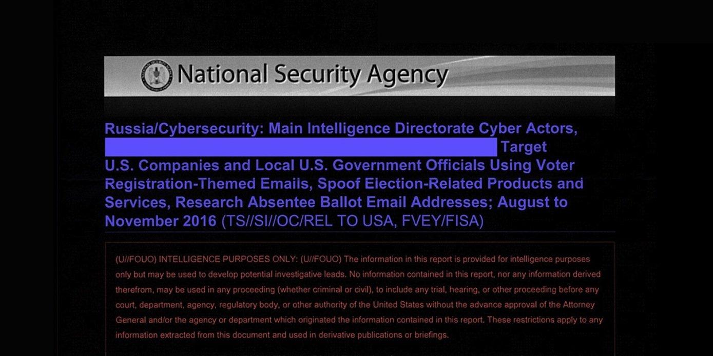 Auszüge aus dem geheimen NSA-Bericht über die russischen Versuche, den US-Wahlkampf 2016 zu beeinflussen.