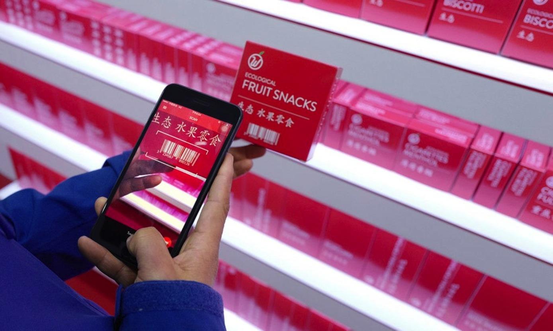 Bezahlt wird im Supermarkt ohne Personal per App.