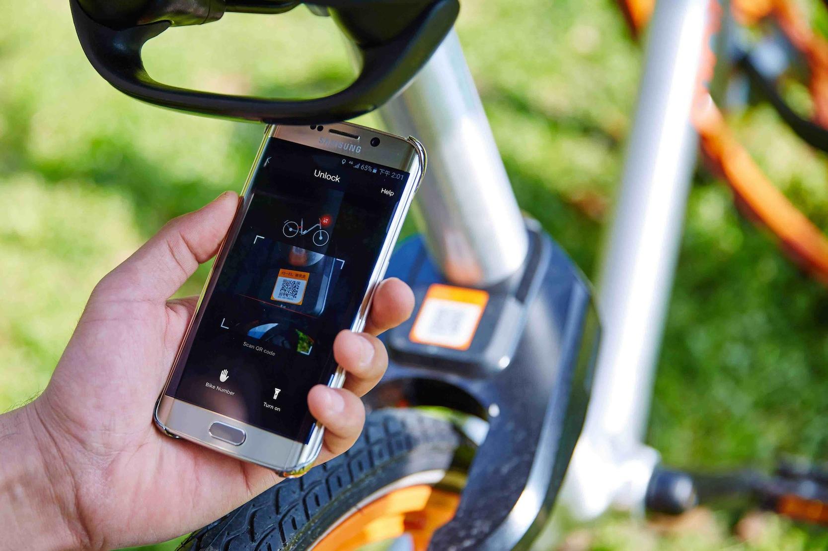Das chinesische Leihrad Mobike kann überall abgestellt und ausgeliehen werden. Per App wird das Fahrrad freigeschaltet und kann benutzt werden.