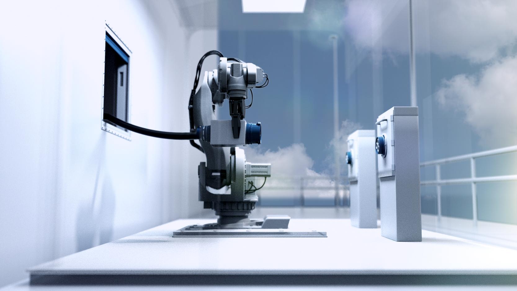 ABB hat einen Roboter entwickelt, der im Hafen das Ladekabel des Schiffes ergreift und mit der Ladestation verbindet. Allerdings funktioniert das System noch nicht fehlerfrei.