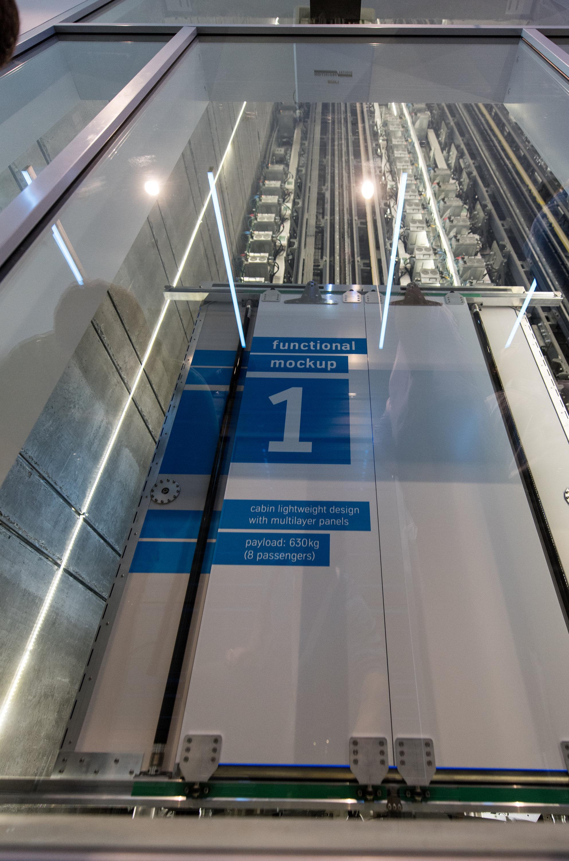 Das seillose Aufzugsystem Multi von Thyssenkrupp Elevator soll bis zu 1.000 m in einem Rutsch bewältigen können.