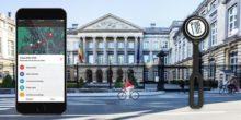 Brüssels Radfahrer markieren Schlaglöcher mit Bluetooth-Taster