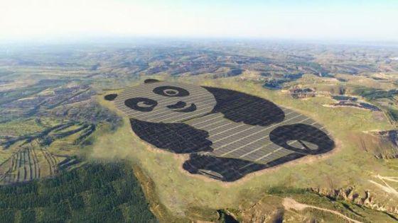 Die Solarzellen des Pandas werden sich auf einer Fläche von 1500 Mu (1 Quadratkilometer)ausstrecken.