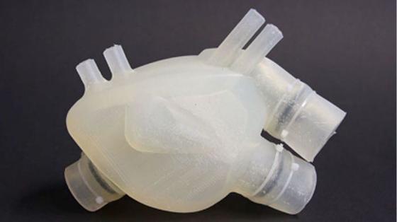 Das Silikonherz aus Zürich stammt aus dem 3D-Drucker.