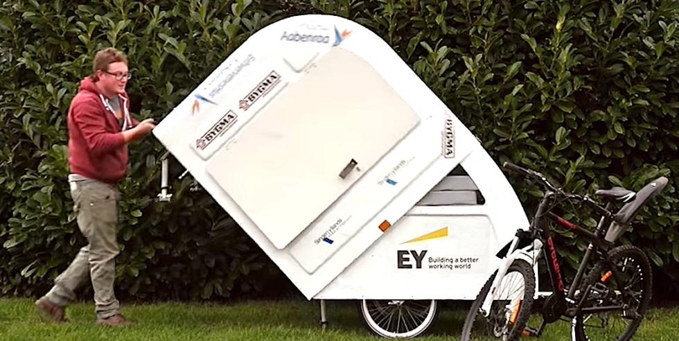 Wide Path Camper: Campinganhänger für das Fahrrad