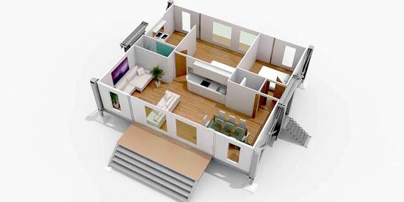 Das Haus, das sich selbst aufbaut