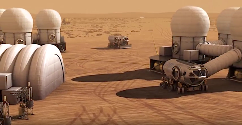 Auf dem Mars benötigt man Möglichkeiten zur Energiegewinnung, wenn man dort Menschen ansiedeln will.