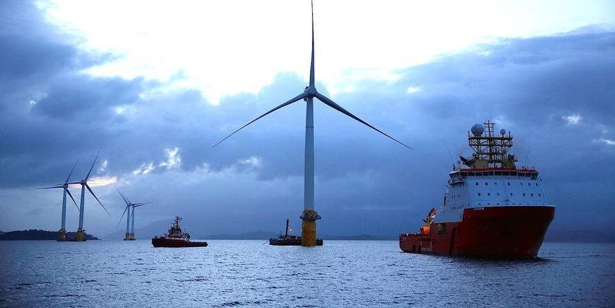 Weltgrößter schwimmender Windpark entsteht vor Schottland in der Nordsee