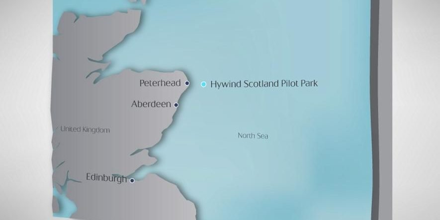 Karte der Küste vor Schottland