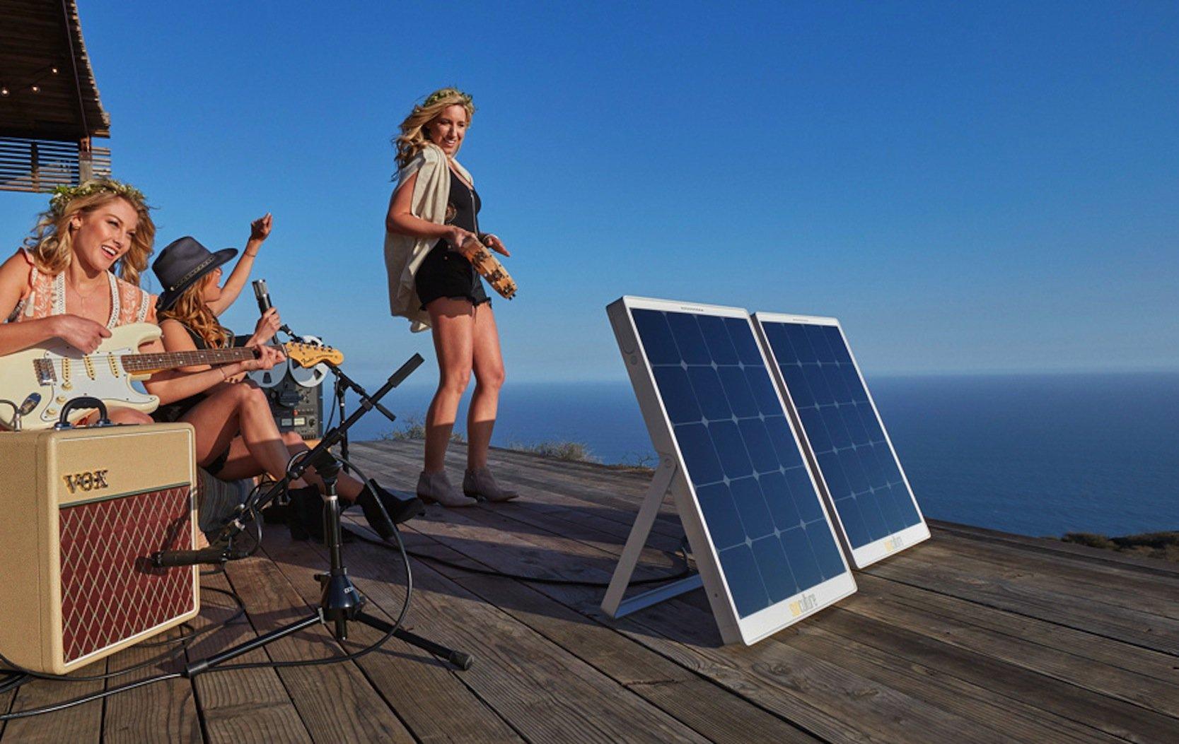 Lass uns rocken: An jedem Ort, wo Strom gebraucht wird, lassen sich die mobilen Solarmodule als Stromlieferant einsetzen.