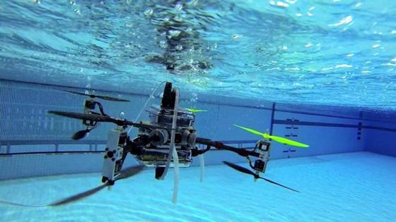 Diese Drohne kann nicht nur fliegen, sondern auch im Wasser tauchen. Die US Army will die Drohne für Kampfeinsätze und Versorgungseinsätze nutzen.