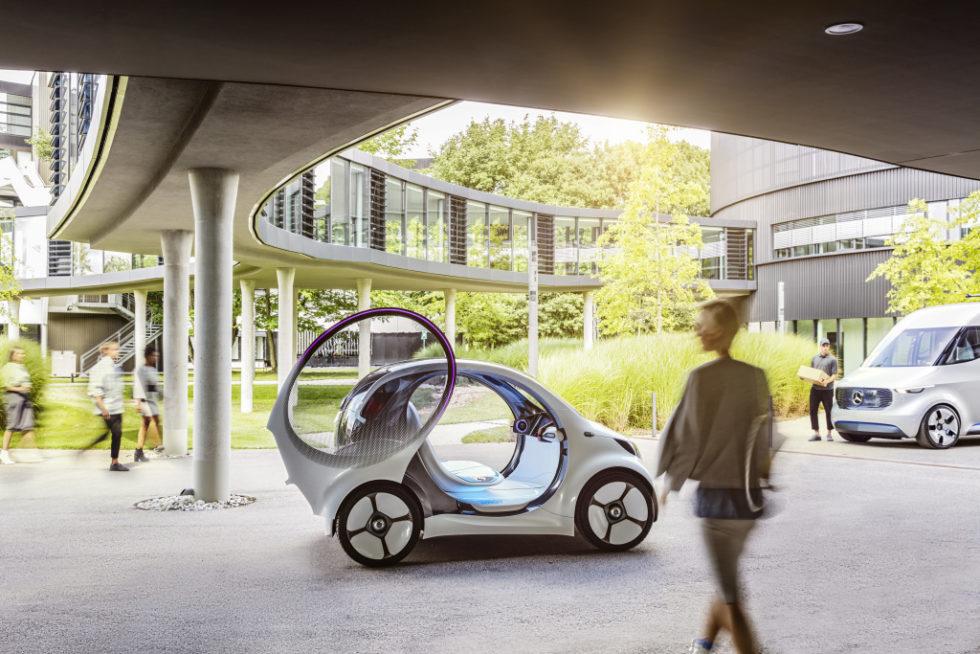 Daimler macht den Smart zum selbstfahrenden Elektrotaxi