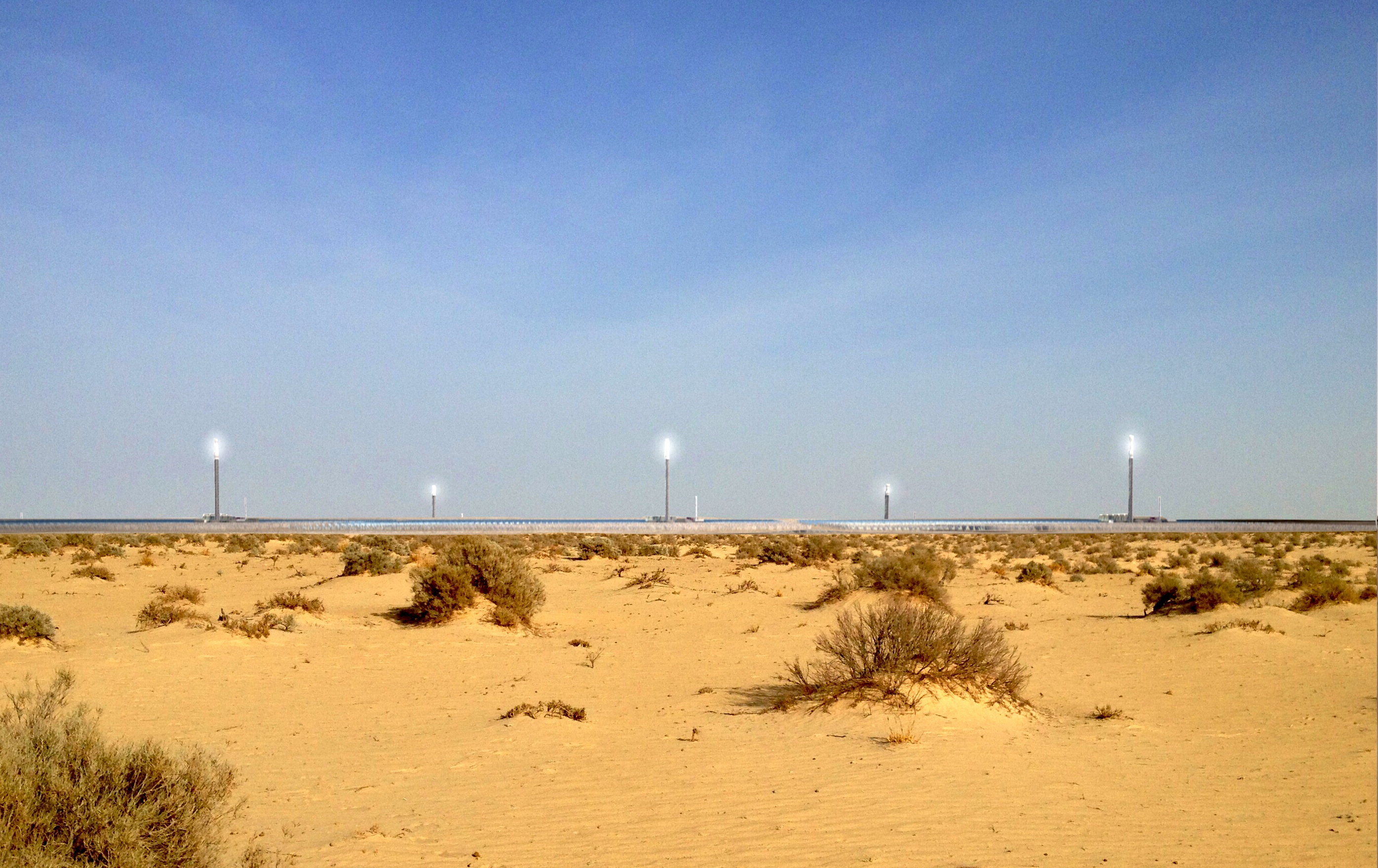 Die neuen Solarturm-Kraftwerke sollen im Südwesten Tunesiens in der Sahara entstehen.