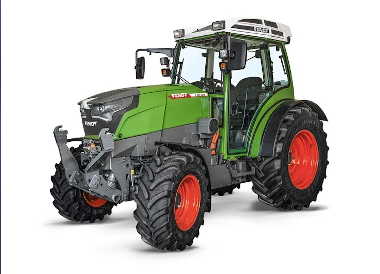 Der e100 Vario ist laut Fendt der erste batterieelektrische Traktor, der tatsächlich praxisgerecht ist. Mit einer Akkuladung ist er für bis zu fünf Stunden einsatzbereit.