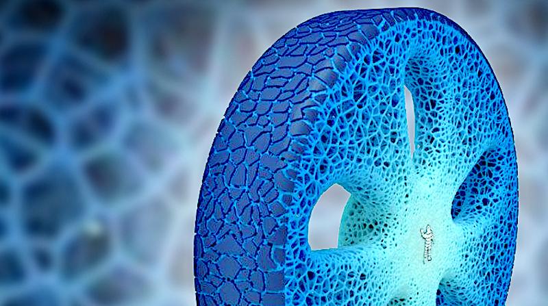 Michelins Konzeptreifen Vision stammt aus dem 3D-Drucker, benötigt keine Luft und besteht aus biologisch abbaubaren Rohstoffen.