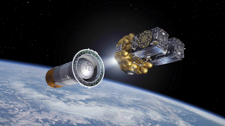 Eine Sojus-Rakete ist am 17.12.2015 mit zwei weiteren Satelliten für das europäischeNavigationssystem Galileo gestartet. MitAdriana und Liene befinden sich jetzt 12 von 30 vorgesehenen Galileo-Satelliten in der richtigen Umlaufbahn.