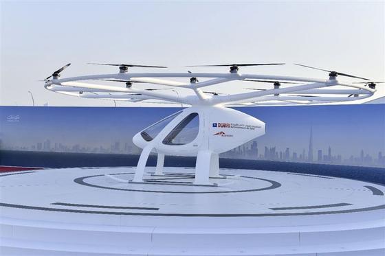 Der Volocopter ist in der Lage, Menschen auch ohne menschliches Eingreifen zu transportieren.