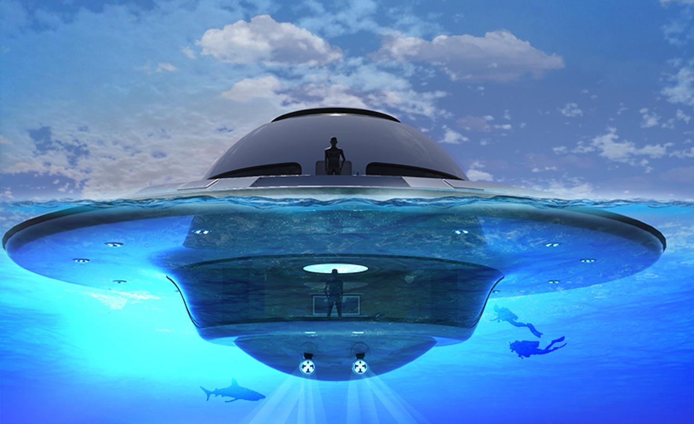 So spektakulär kann ein Hausboot sein. Das dreistöckige UFO 2.0 soll Anfang 2018 auf den Markt kommen.