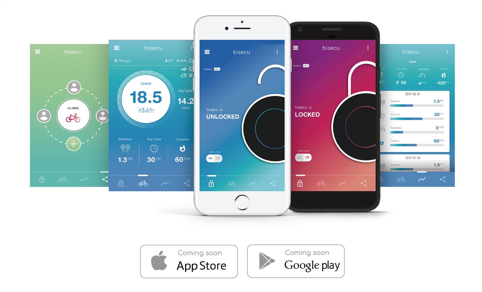 Bisecu kommuniziert mit dem Smartphone seines Besitzers per Bluetooth und einer App.