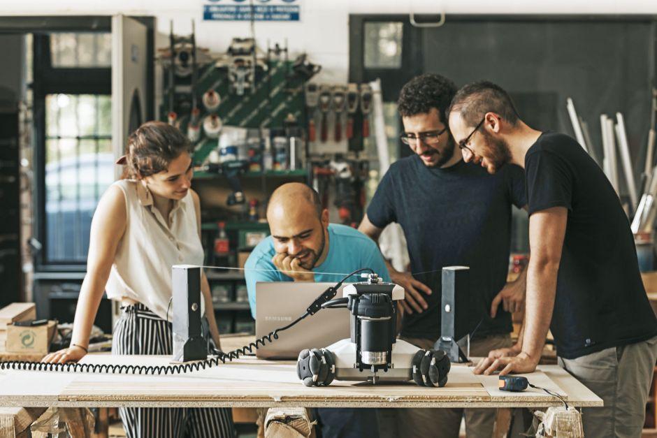 Hinter dem Start-up Springa stehen die drei Gründer LorenzoFrangi(v.r.), Alessandro Trifoni und Davide Cevoli.
