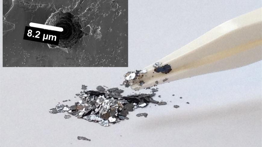 Kish-Graphit ist ein Abfallprodukt der Stahlproduktion.