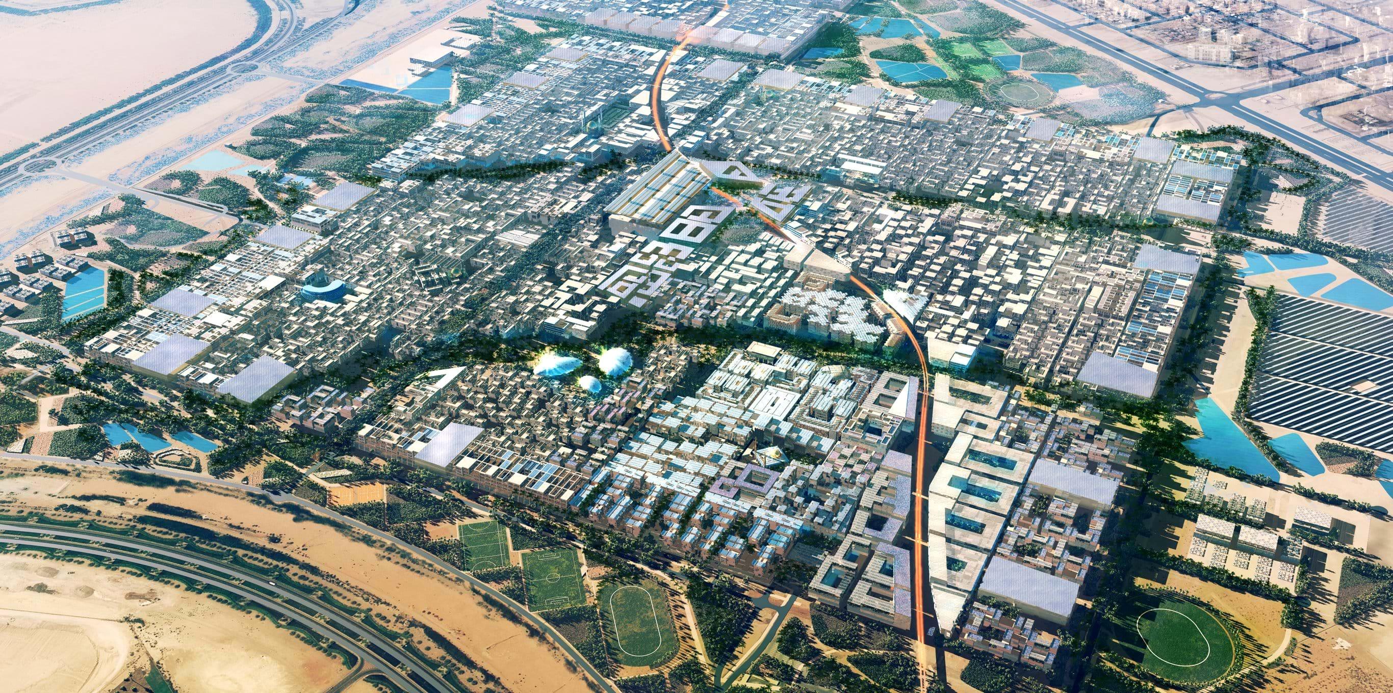 In Master City im in den Vereinigten Emiraten sollen einmal fast 50.000 Menschen leben. Derzeit stockt jedoch die Entwicklung. Nur das innerste Zentrum ist gebaut, nur rund 600 Menschen leben in der Stadt. Auch Siemens ist in der Stadt mit einer Dependance vertreten.