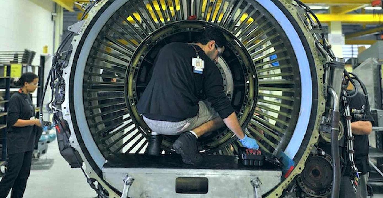 Triebwerk von General Electric Aerospace:GE ist weltweit der größte Triebwerkbauer vor Rolls Royce und Pratt & Whitney.