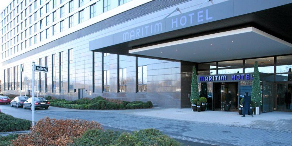 Das Martim-Hotel am Düsseldorfer Flughafen beherbergt seit Jahren die Jobmesse der VDI nachrichten.