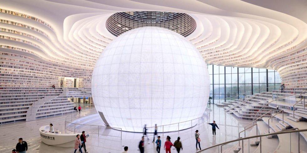 Die neue Bibilothek von Tianjin