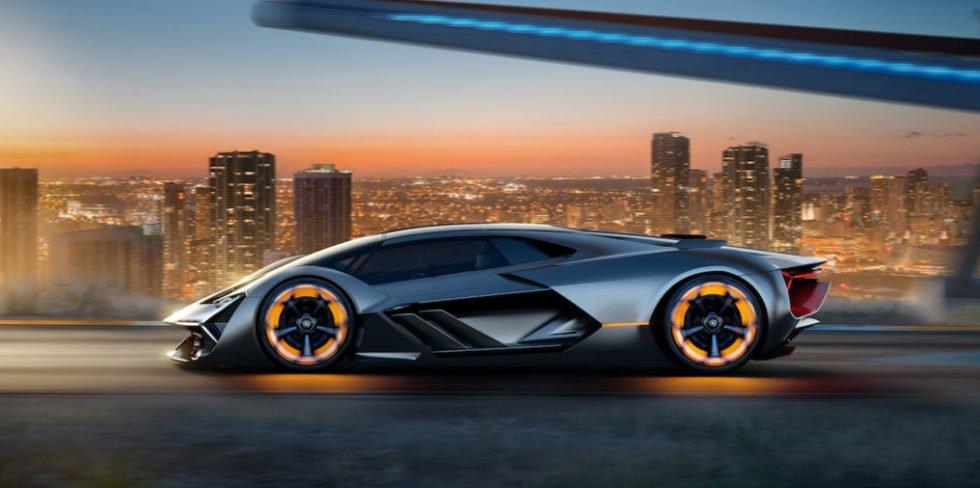 Autonom fahrender Lamborghini mit selbst heilender Karosserie