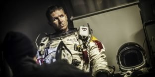 Felix Baumgartner in Raumanzug