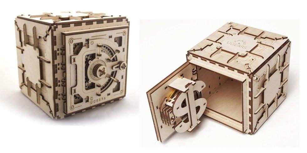 Tresorschrank aus Holz