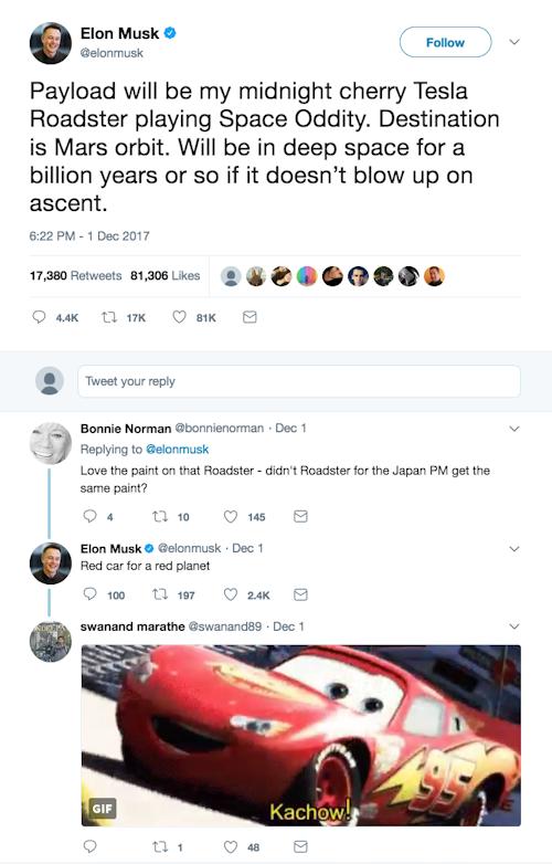 Twitter Post von Elon Musk
