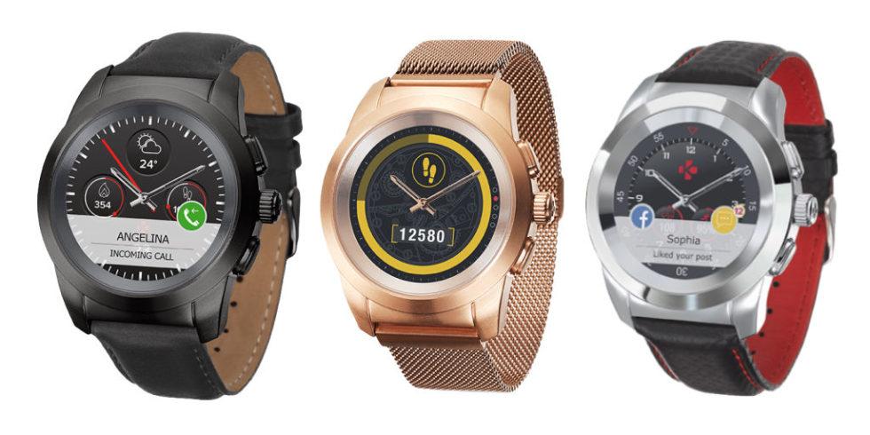 Drei Modelle der Hybridwatch ZeTime von Mykronoz