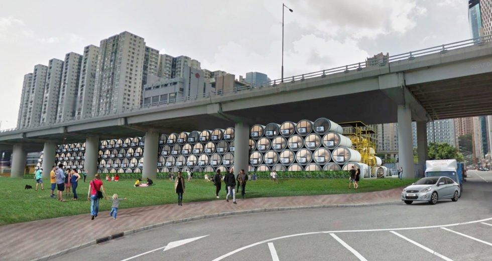 In diesen Abwasserrohren aus Beton sollen Menschen wohnen
