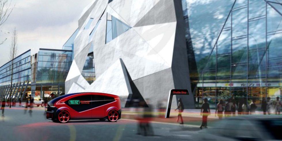 So soll der Fisker Orbit aussehen, ein elektrisches und autonomes Shuttle.