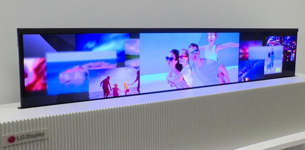 Dieser Oled-Fernseher lässt sich einfach zusammen rollen