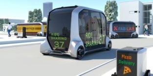 Autonomes Auto von Toyota kann Bus, Büro, Praxis oder Laden sein