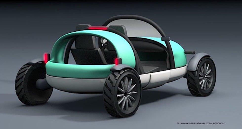 Entwickelt hat das aufblasbare Auto der Berliner Prof. Ullrich Hoppe.