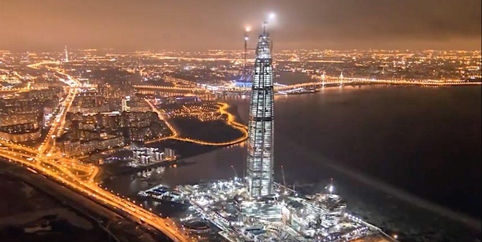 Kein Hochhaus in Europa ist größer: In St. Petersburg entsteht das 462 m hohe Lakhta Center.