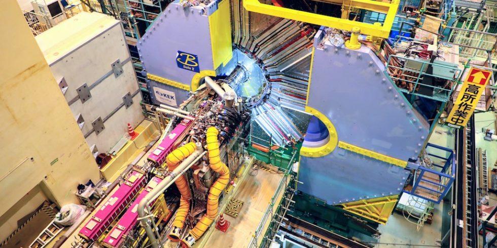 Der Belle II-Detektor zeichnet die von SuperKEKB produzierten Teilchenkollisionen auf und wertet sie aus.