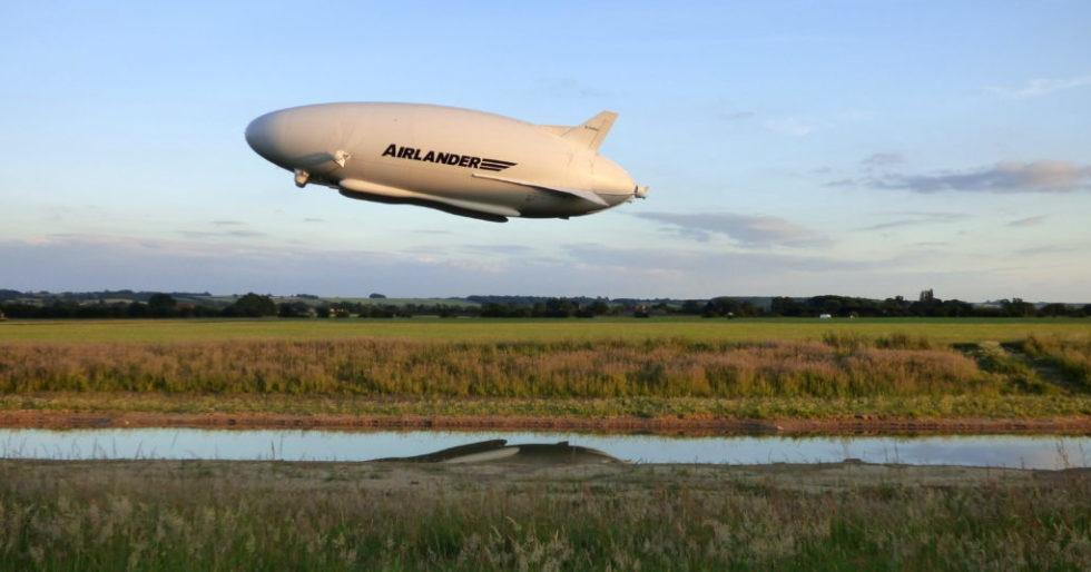 Der Airlander soll künftig schwere Lasten und Fracht transportieren können.