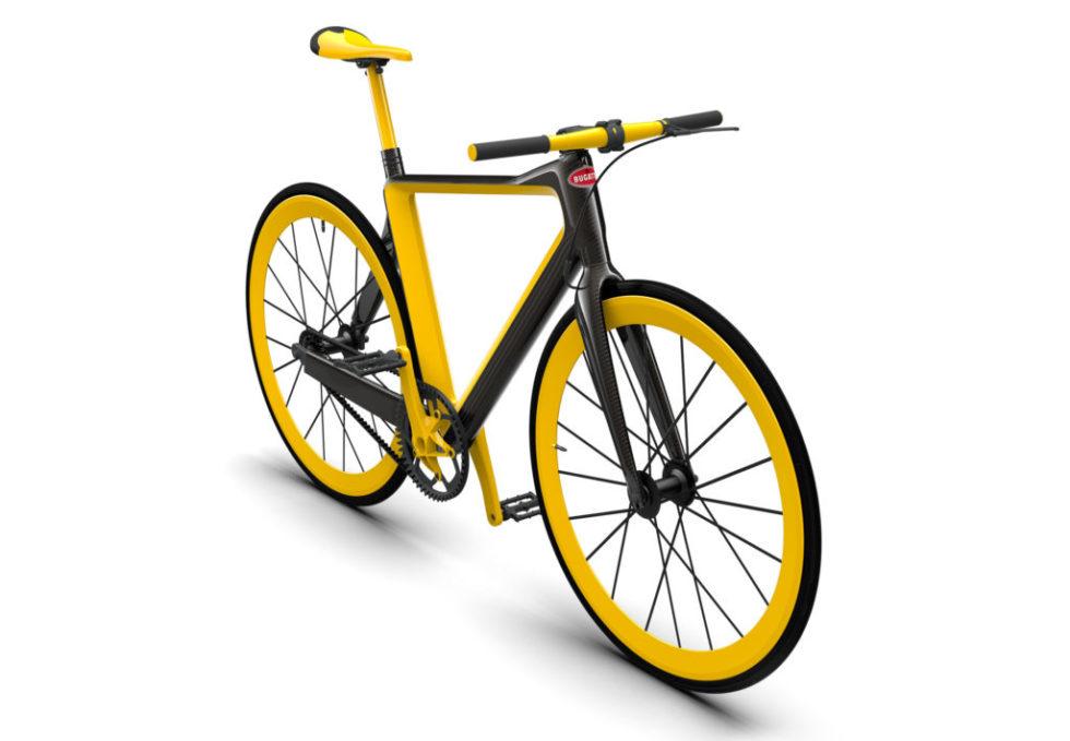 Schön gelb und sehr auffallend: das PG Bugatti Bike.